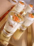 Verrine de saumon fum et ricotta