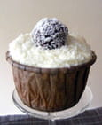 Cupcakes coco-pralin, truffes choco-coco