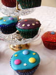 Cupcakes au chocolat trs colors