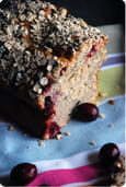 Cake fa�on porridge aux bananes et cranberries