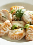 Gnocchis aux carottes sauce parmesan