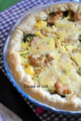Quiche au poulet au curry et brocolis
