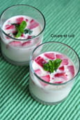 Panna cotta fraises menthe