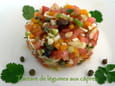 Tartare de lgumes aux cpres