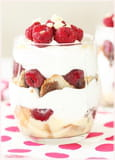 Trifle framboise et chantilly au yaourt