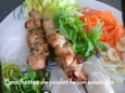 Brochettes de poulet fa�on asiatique