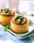 Vol au Vent d�escargot au Riesling