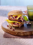 Burger aux cranberries et coleslaw