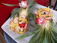 recette de salade de poulet ananas au miel de soja la recette facile. Black Bedroom Furniture Sets. Home Design Ideas
