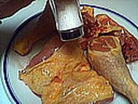 Poulet au lait de coco, tomates et safran : Etape 1