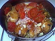 Poulet au lait de coco, tomates et safran : Etape 5