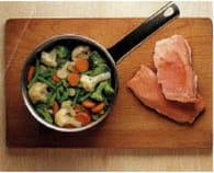 Terrine de saumon aux légumes : Etape 1