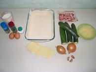 Gratin de courgettes aux lardons : Etape 1