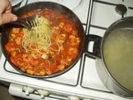Spaghetti au saumon et fruits de mer : Etape 6