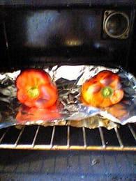Salade de poivrons grillés : Etape 1