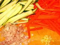 Noix de Saint-Jacques aux petits légumes : Etape 1