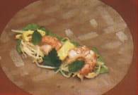 Rouleaux de printemps aux crevettes et champignons : Etape 3