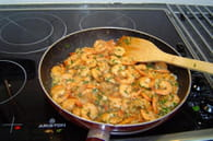 Crevettes à l'ail : Etape 6