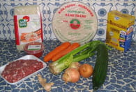 Nems au porc, concombre et gingembre : Etape 1