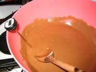 Moulage du chocolat : Etape 2