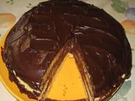 Gâteau ganache chocolat et poires : Etape 6
