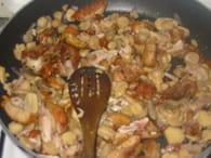 Poulet à la crème, oignon et champignons : Etape 3