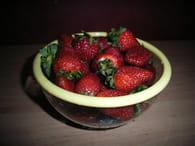 Mousse à la fraise : Etape 1