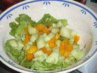 Salade niçoise : Etape 1