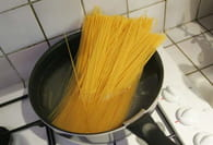Spaghettis et pesto au basilic : Etape 2