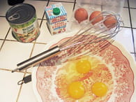 Terrine légère macédoine-jambon : Etape 1