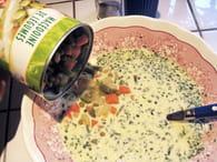 Terrine légère macédoine-jambon : Etape 2