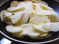 Crêpe de pommes : Etape 1