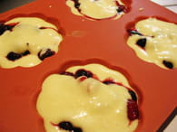 Muffins aux fruits rouges : Etape 5