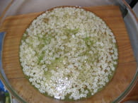 Jus de fleurs de sureau : Etape 2