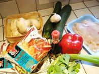 Nouilles chinoises faciles au poulet : Etape 1