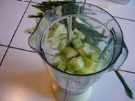 Soupe fraîche de concombre : Etape 2
