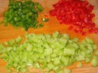 Pâtes en salade multicolore : Etape 2