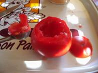 Tomates farcies à la viande et pommes de terre : Etape 2