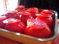 Tomates farcies à la viande et pommes de terre : Etape 3