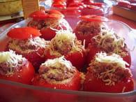 Tomates farcies à la viande et pommes de terre : Etape 5