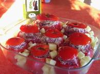 Tomates farcies à la viande et pommes de terre : Etape 6
