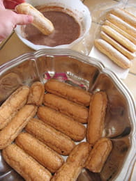 Tiramisu au chocolat : Etape 1