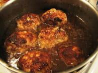Boulets sauce lapin à la liègeoise : Etape 6