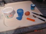Oeuf à la coque au surimi : Etape 1