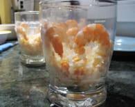 Verres fraîcheur avocat-crevettes : Etape 4