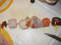 Brochettes de fruits de mer : Etape 2