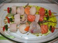 Brochettes de fruits de mer : Etape 4