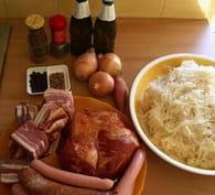 Choucroute alsacienne : Etape 1
