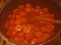 Velouté de carottes : Etape 2