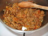 Gratin de viande hachée aux courgettes : Etape 2